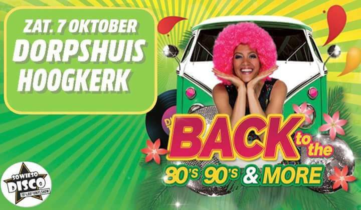 80's 90's and more, disco in onze Grote Zaal